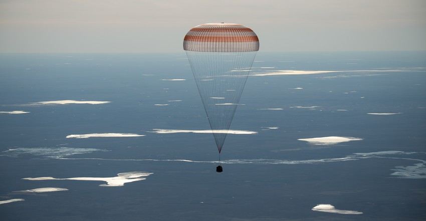 Expedition 50 Soyouz MS-02 Atterrissage